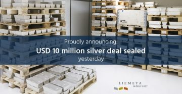 USD 10 million silver deal sealed