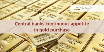 Central banks continuous appetite in gold purchase