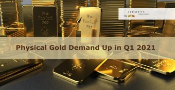 Physical Gold Demand Up in Q1 2021